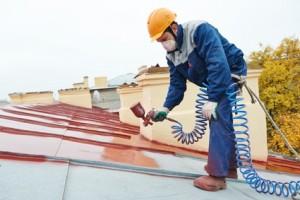 Peinture sur toit Peyriac-Minervois